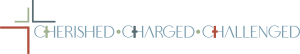 This image has an empty alt attribute; its file name is cherished_charged_challenged-300x54.png
